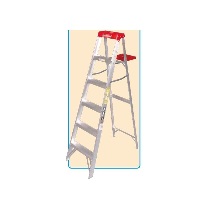 Escalera de tijera aluminio uso domestico 90kg for Escaleras tijera